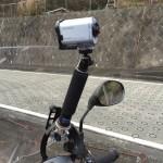 HDR-AS200V バイク マウント方法を考察してみた。